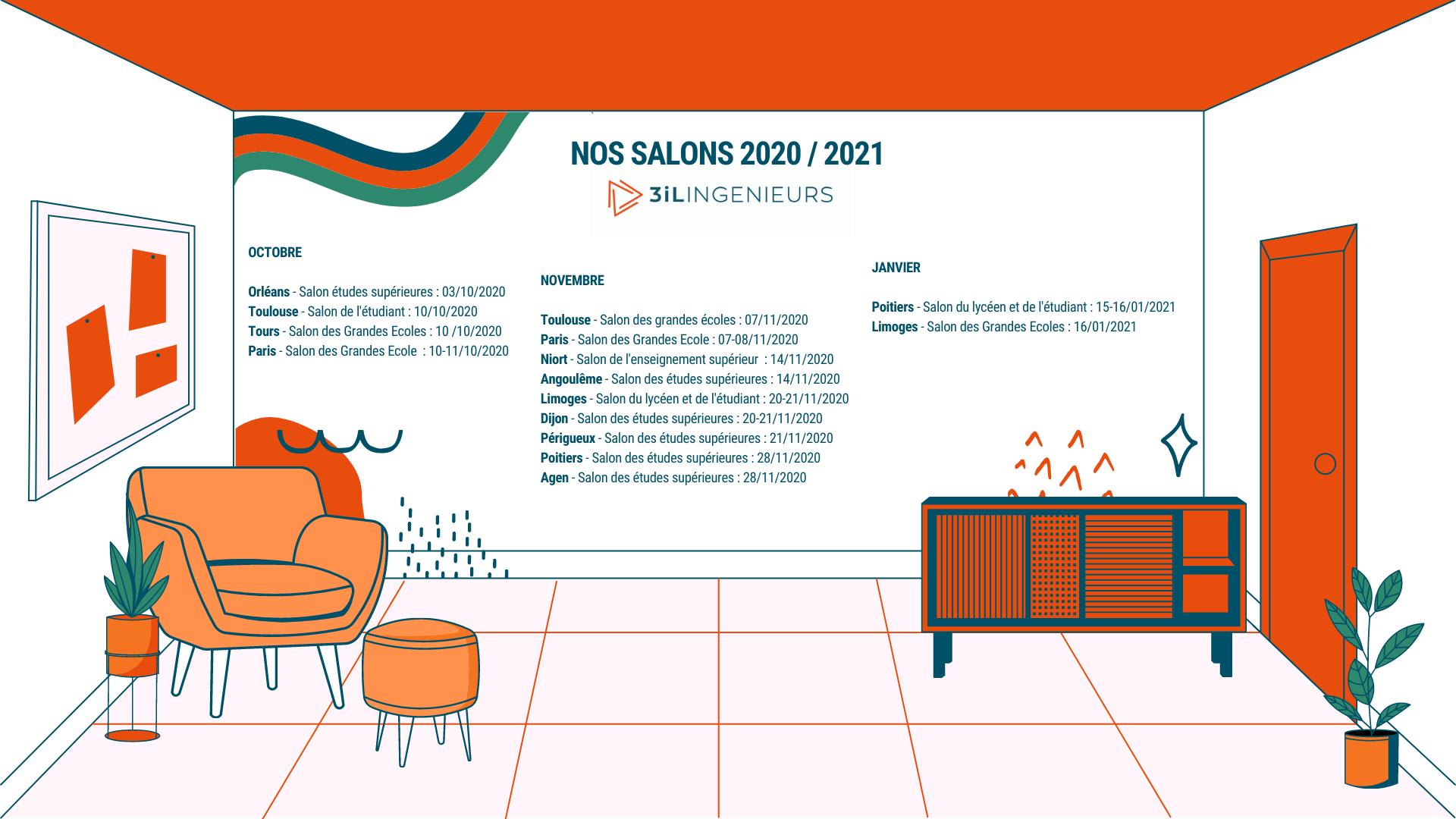 Notre présence sur les salons étudiants 2020 / 2021