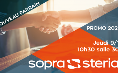 Signature du nouveau parrainage avec Sopra Steria